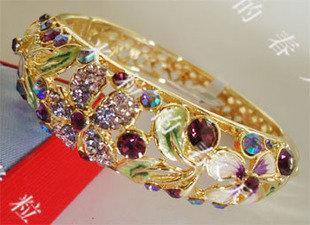 景泰藍紫色手鐲SKC1429新娘飾品生日禮品母親節禮物