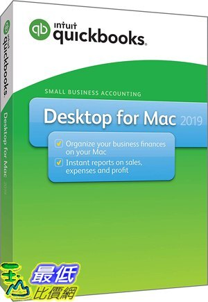 [8美國直購] 暢銷軟體 QuickBooks Desktop For Mac 2019 [Mac Disc]
