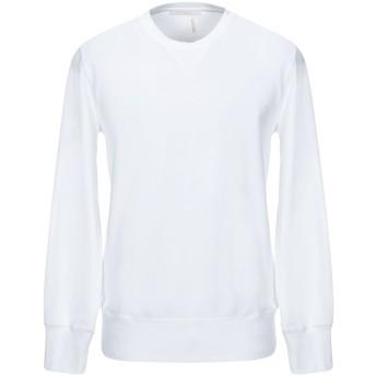 《セール開催中》DANIELE FIESOLI メンズ スウェットシャツ ホワイト S コットン 95% / ポリウレタン 5%