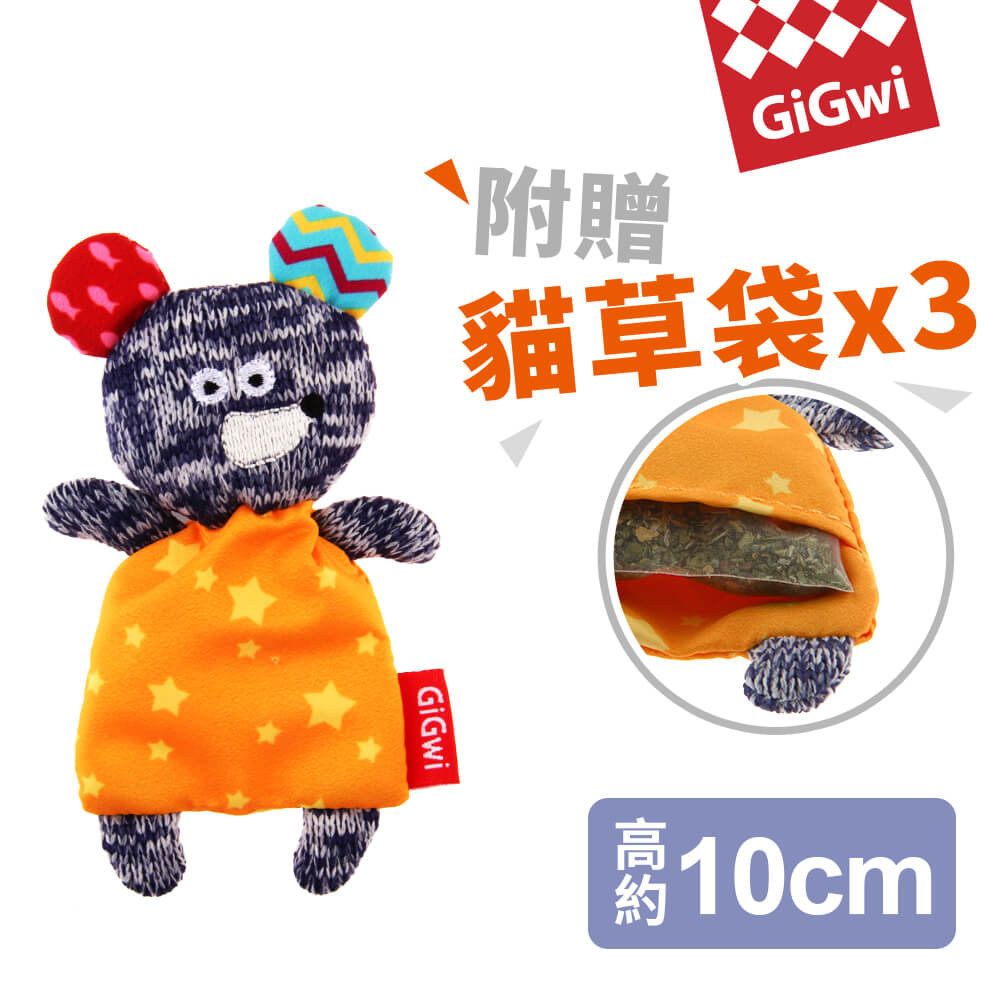 【SofyDOG】GiGwi就是愛貓草-小灰鼠絨毛玩具《618購物節》