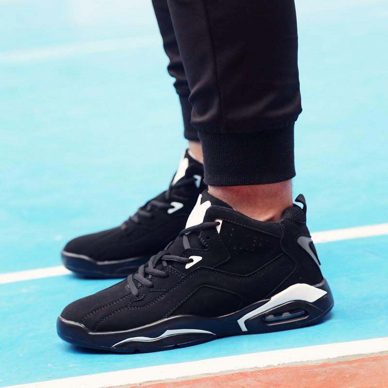 秋季新款氣墊鞋韓版情侶休閑運動籃球鞋高幫男鞋跑步增高慢跑潮