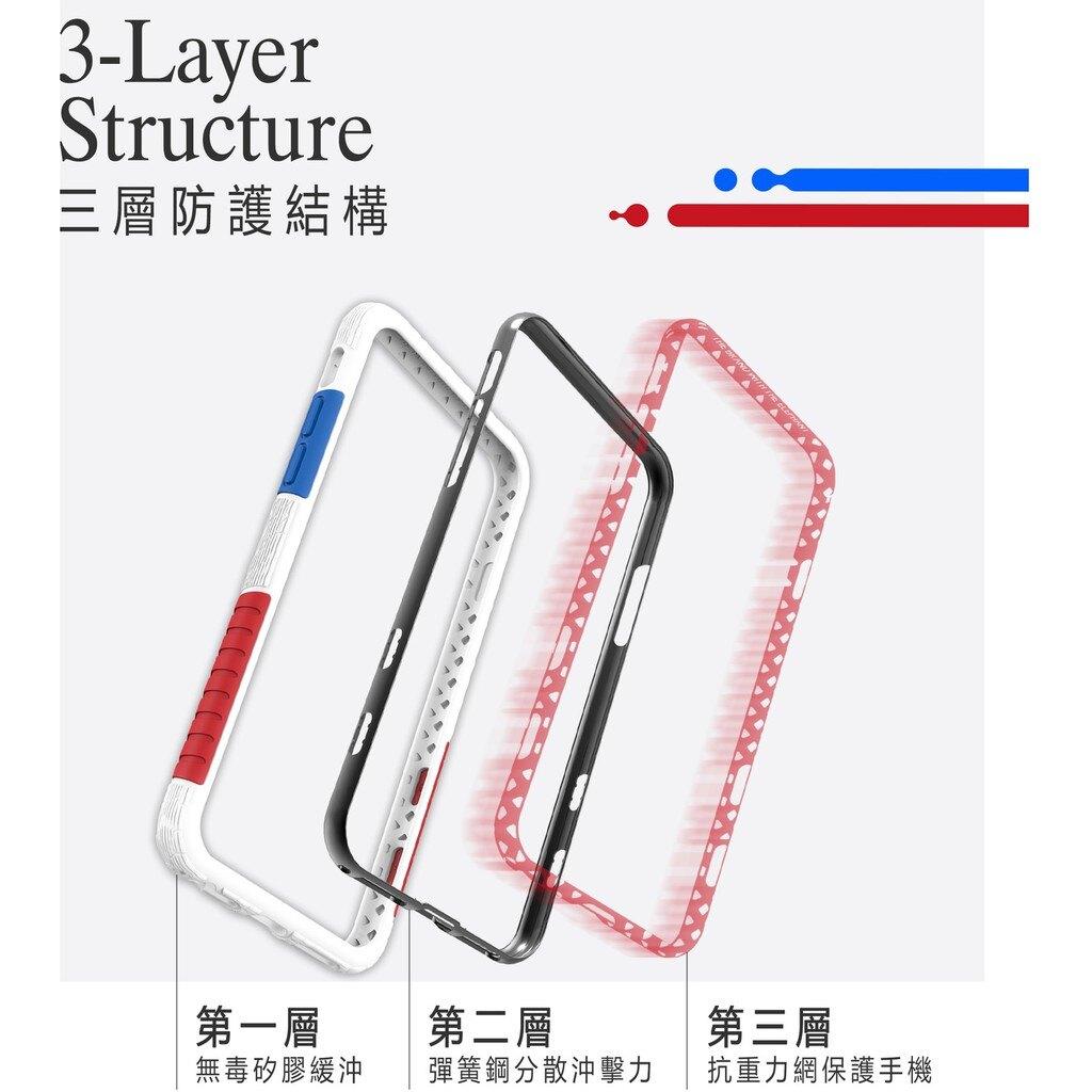 太樂芬 NMDer 抗污防摔手機殼 + 透明背板 + 保護貼 用於 iphone Xs XR i8