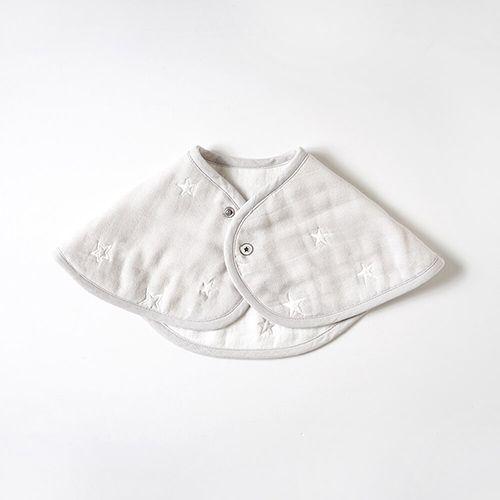 日本【10mois】六層紗拍嗝巾圍兜(銀河星彩)【母親節推薦】