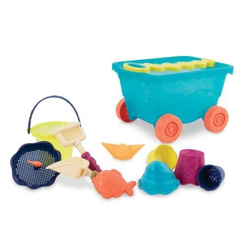 美國【B.Toys】感統玩具-挖挖兵拉拉車BX1309Z(顏色隨機出貨)★愛兒麗婦幼用品★