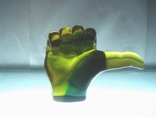 琉璃工藝品高檔商務禮品大拇指獎杯 琉璃擺件 精美禮品 創意