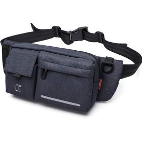 [FONOSYU]ウエストバッグ ウエストポーチ ボディバッグ ショルダーバッグ ヒップバッグ メンズ レディース 旅行カバン 斜めがけ 軽量 防水 旅行 アウトドア ランニング 男女兼用 胸バッグ カバン 鞄 多機能 2色