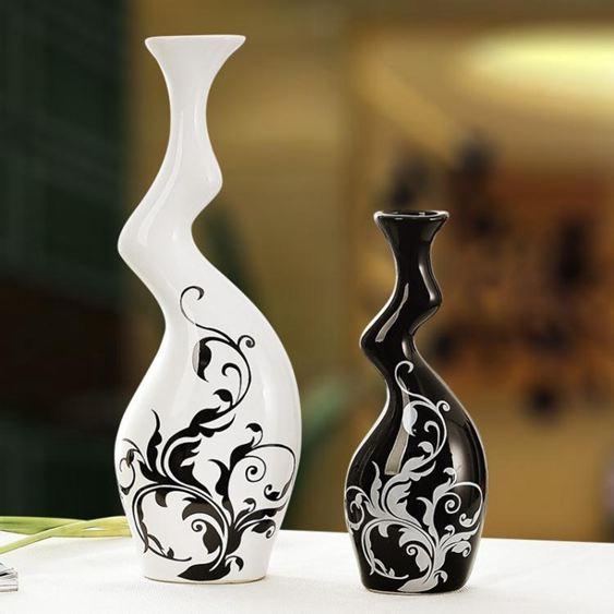 現代簡約花瓶陶瓷工藝品擺設家居創意裝飾品電視酒櫃客廳擺件
