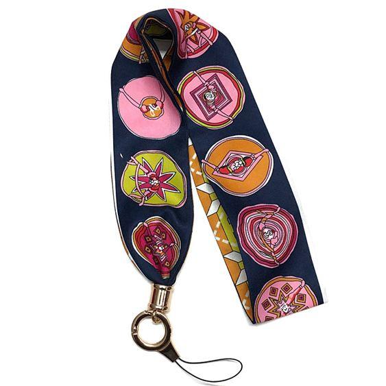 【高品質不勒脖】手機脖子掛繩絲巾緞帶蘋果87plus6s掛脖長吊繩寬