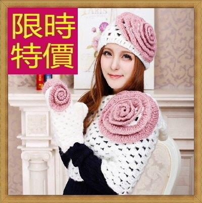 羊毛三件套含手套+圍巾+毛帽-可愛溫暖防寒組合女配件63n18【韓國進口】【米蘭精品】