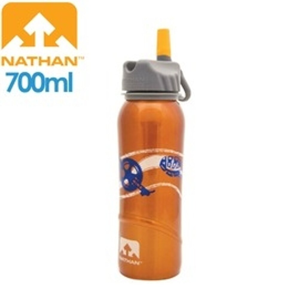 【NATHAN 美國 不鏽鋼水壺700橘】NA4036/不鏽鋼/吸管水壺/大瓶口