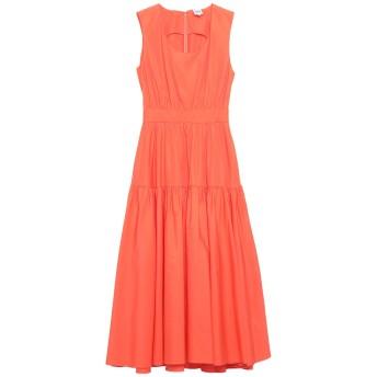 《セール開催中》ASPESI レディース 7分丈ワンピース・ドレス オレンジ 40 コットン 100%