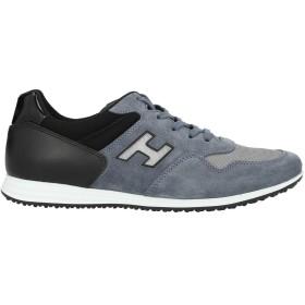 《セール開催中》HOGAN メンズ スニーカー&テニスシューズ(ローカット) ブルーグレー 5 革 / 紡績繊維