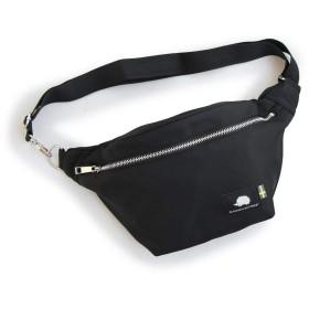 (スカンジナビアン フォレスト) SCANDINAVIAN FOREST ウエストバッグ カバン 鞄 BAG ワンポイント ナイロン カジュアル 高さ18.5×横幅25.5×マチ4cm BLACK