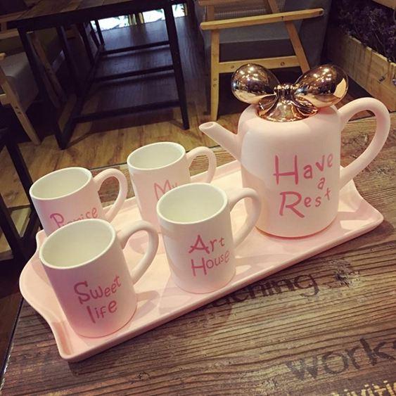 英式骨瓷咖啡杯套裝歐式高檔簡約下午花茶茶具創意家用陶瓷水杯具