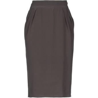 《セール開催中》ROANIK レディース ひざ丈スカート 鉛色 10 シルク 100%