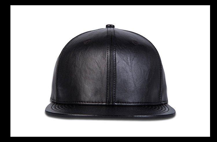 FIND 韓國品牌棒球帽 男 街頭潮流 純黑色皮革款 歐美風 嘻哈帽  街舞帽 太陽帽