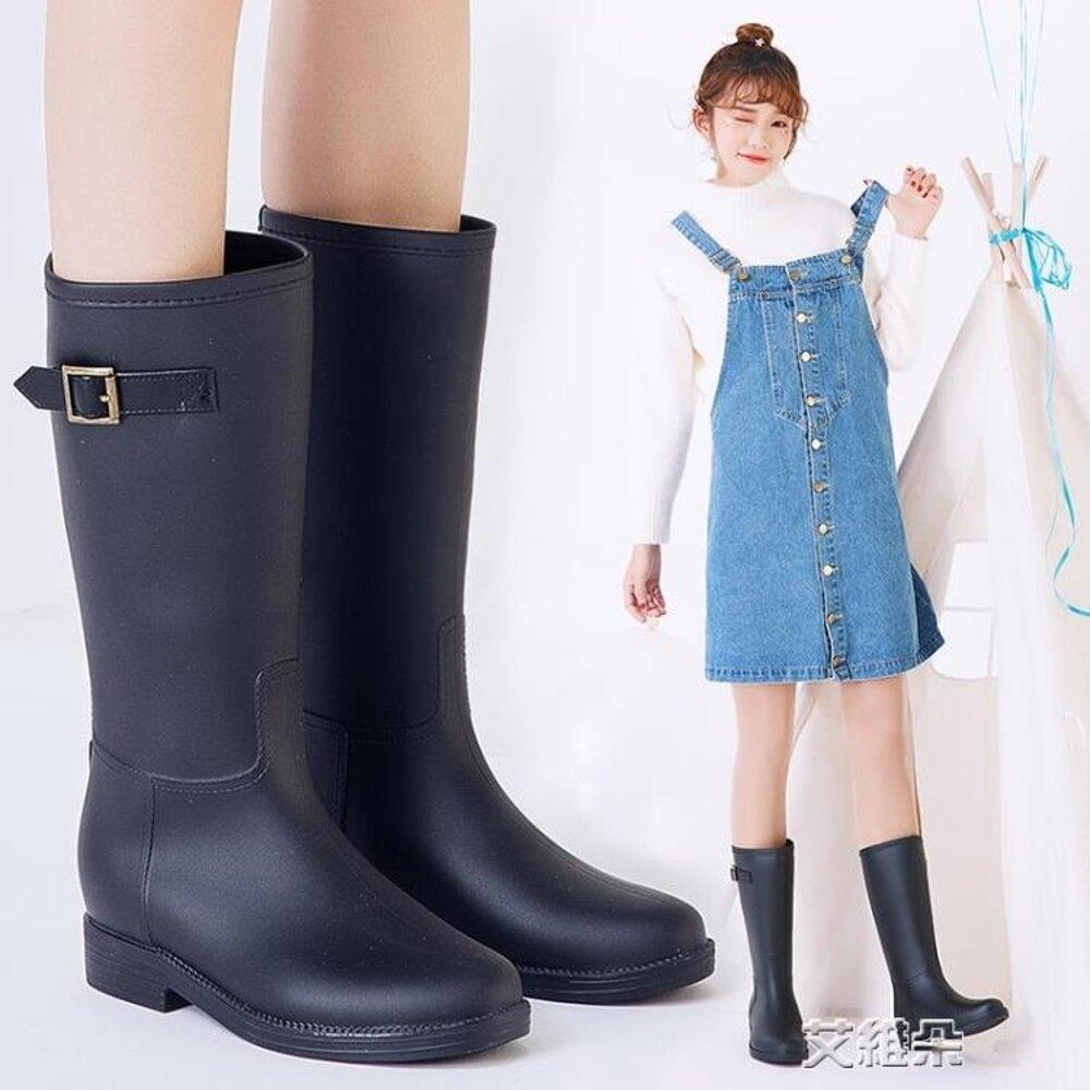 長筒雨靴 新款水鞋女士雨鞋水靴成人雨靴鞋女韓國中筒時尚防滑膠鞋 女神節樂購