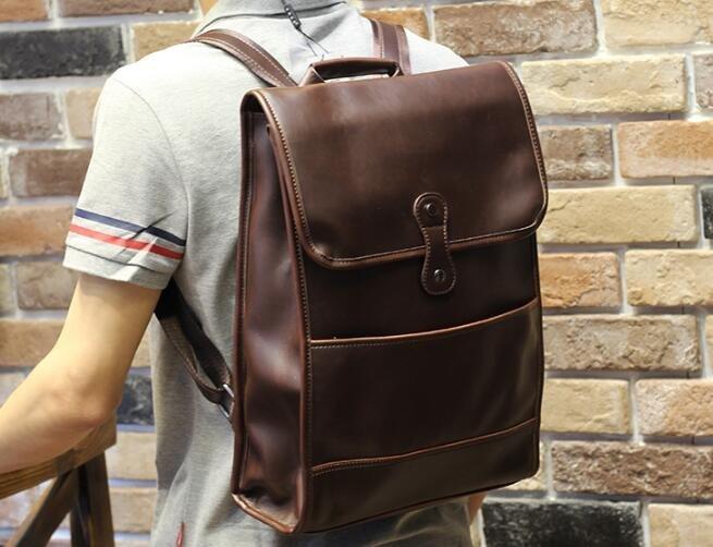 FINDSENSE Z1 韓國 時尚 潮 男 皮質 休閒 學生包 書包 後背包 雙肩包 電腦包 戶外 旅行包