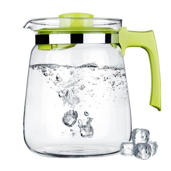 紫丁香耐熱玻璃冷水壺1.5L大容量涼水壺果汁壺S23-1韓菲兒