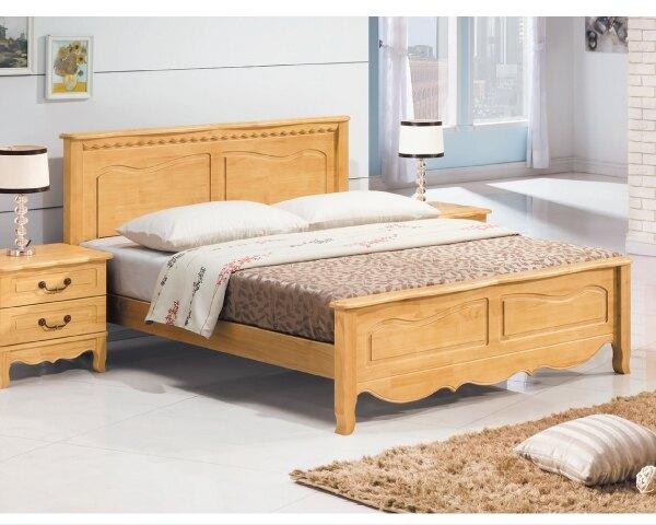 床架【YUDA】貝拉 實木 雙人 5尺 床台/床底K9F 100-4