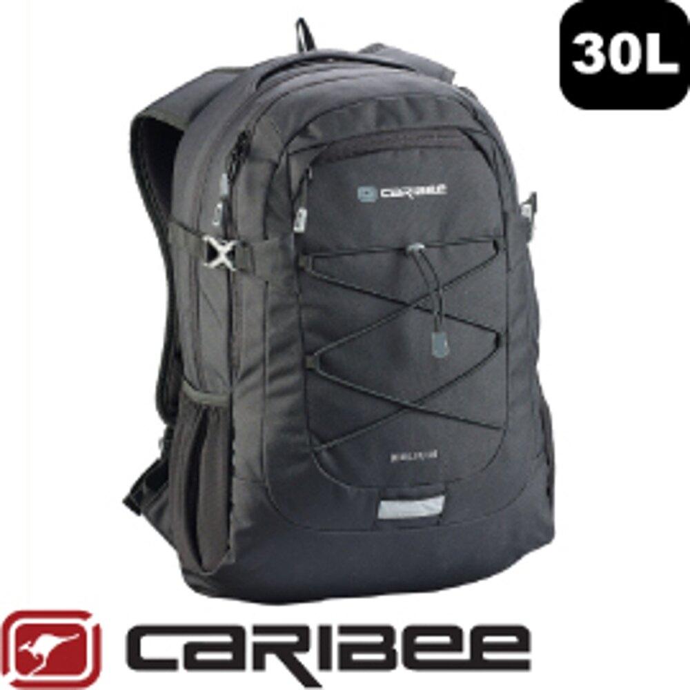 【Caribee 澳洲 HELIUM 30L電腦背包《黑》】CE-6065/平板背包/後背包