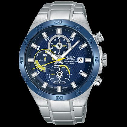 ALBA VD57-X080B(AM3339X1) 時尚三眼計時腕錶/43mm