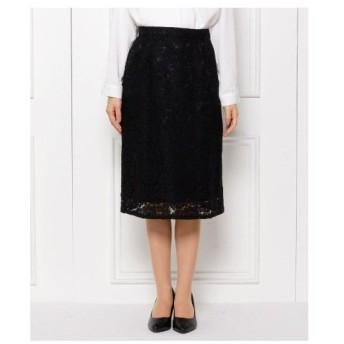 SHOO・LA・RUE(Ladies)(シューラルー(レディース))【S-LLまで】フラワーレースAラインスカート