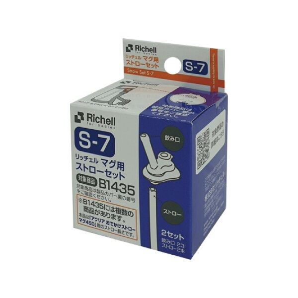 日本Richell 利其爾 冷水壺吸管配件(2組入)