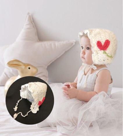 荷葉花邊針織嬰兒毛帽 針織帽 毛帽 橘魔法 現貨 Baby magic 嬰兒 保暖 毛線帽【p0061179668862】