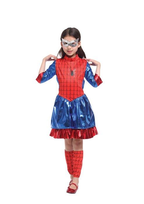 東區派對- - 萬聖節服裝,萬聖節服飾,變裝派對,蜘蛛人服裝 - 閃亮蜘蛛女
