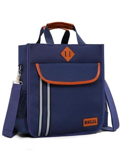 小學生補習袋中學生手提袋帆布書袋男女兒童補課包單肩書包斜背包