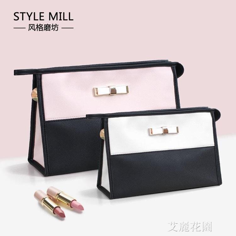 韓國化妝包小號可愛少女心化妝袋 隨身蝴蝶結大容量化妝品收納包