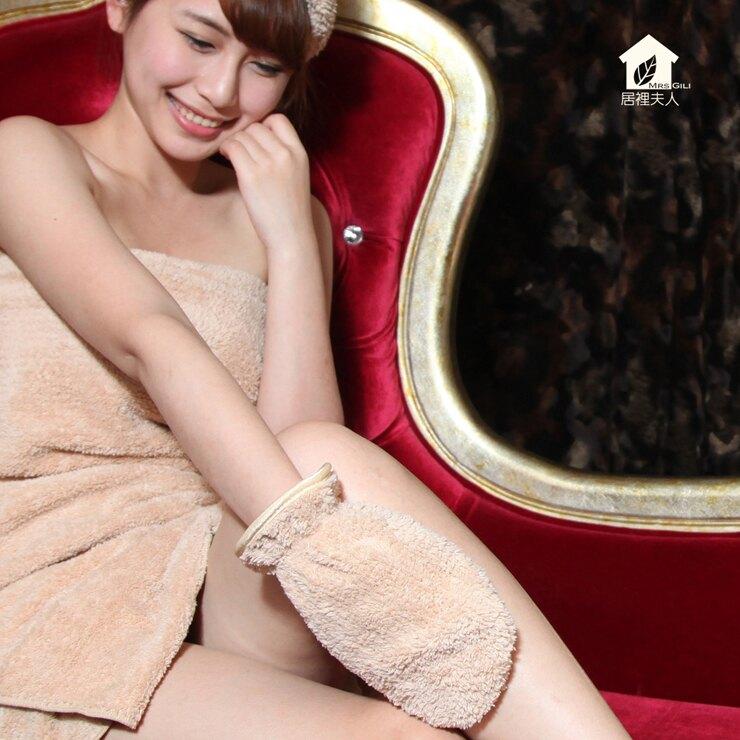 身體去角質/深層清潔-[個性棕]-美體煥膚巾-美膚賦活巾-居裡夫人