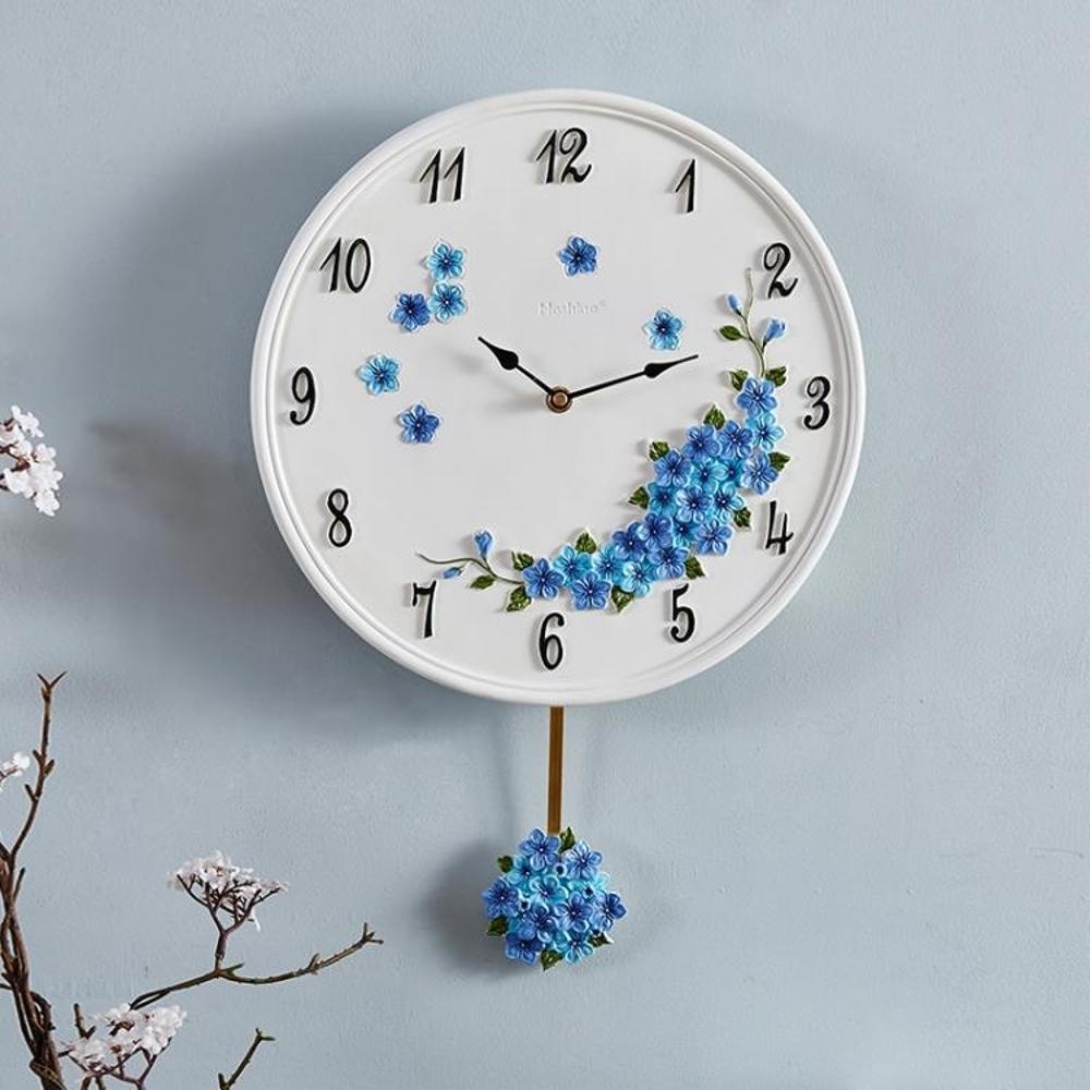 好心藝 歐式田園創意掛鐘靜音時鐘客廳臥室鐘錶現代簡約石英鐘     【歡慶新年】