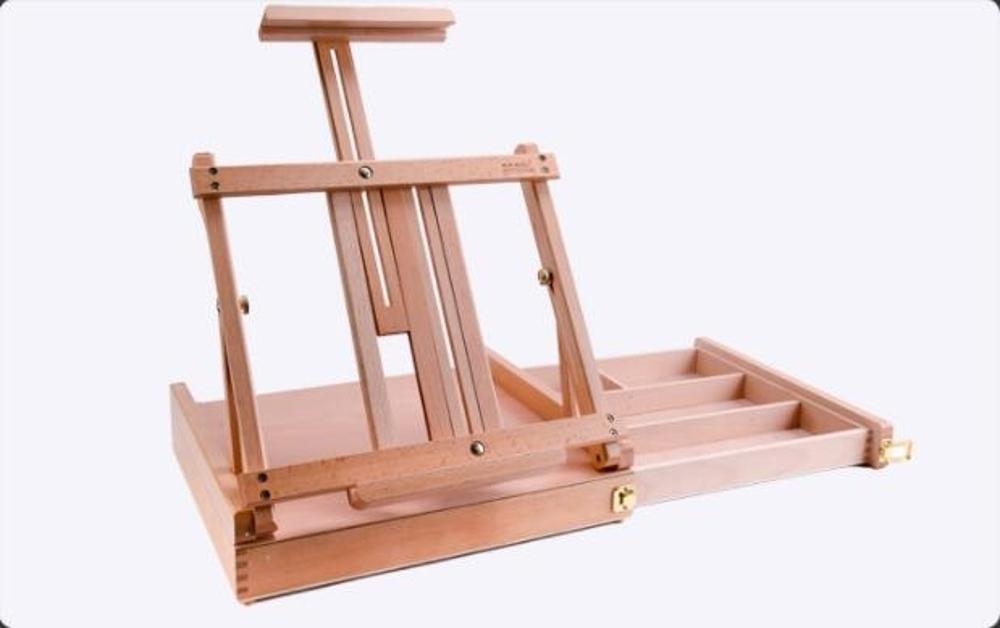 木制桌面畫架收納素描寫生實木折疊油畫架子台式繪畫架  mks 清涼一夏钜惠