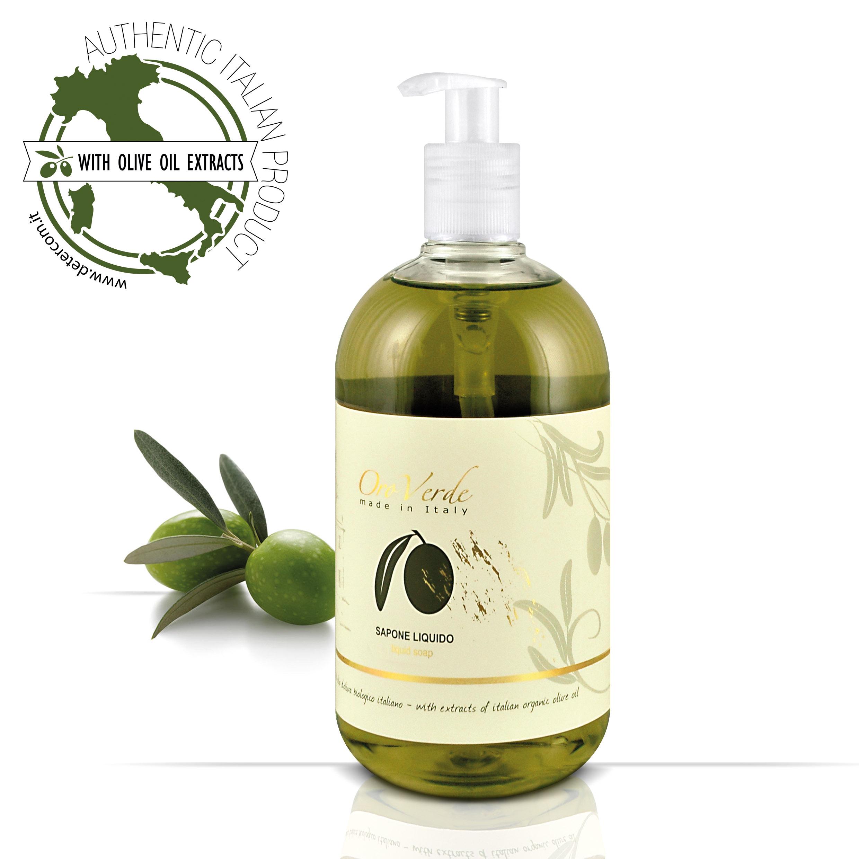 【Detercom 蒂卡娜】液體皂 洗手乳 500ml 橄欖莊園 有機橄欖 (100%義大利原裝進口)國內外頂級星級飯店指定使用沐浴用品