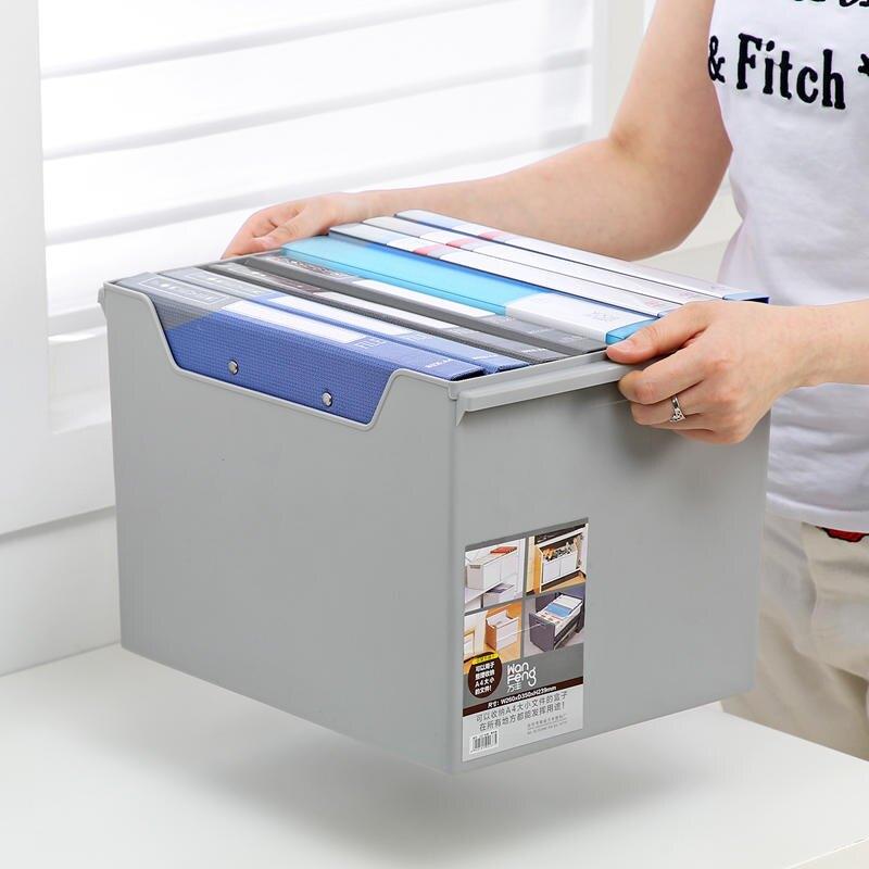 A4紙收納盒大號辦公桌書桌文件整理盒檔案大資料儲物盒桌面收納盒1入