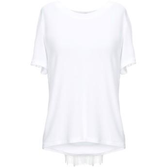 《セール開催中》DONDUP レディース T シャツ ホワイト XS レーヨン 95% / ポリウレタン 5%