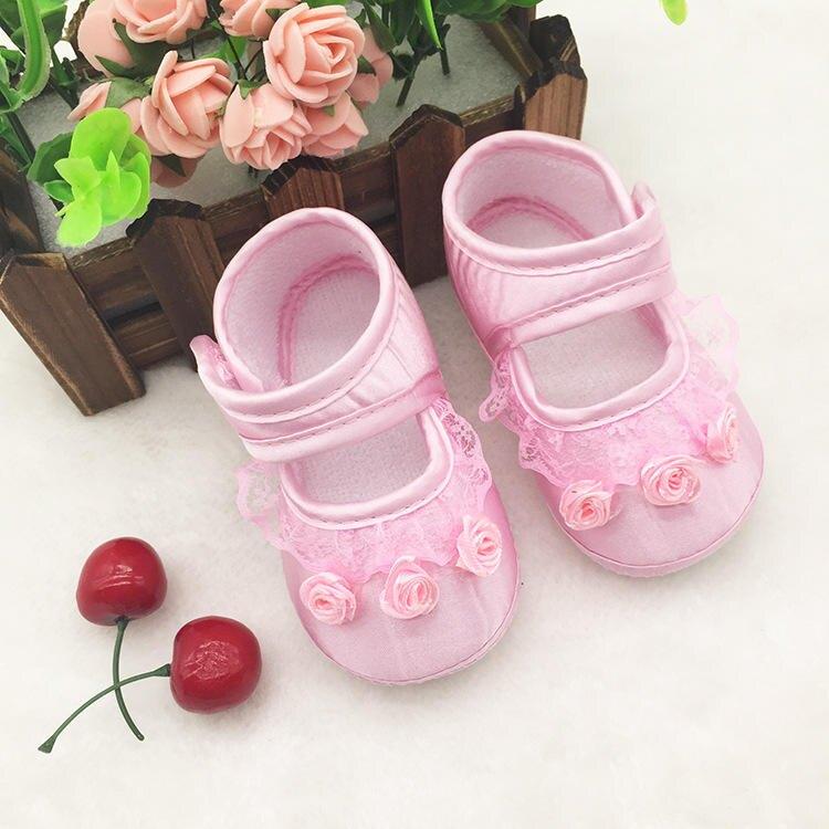 春秋嬰兒鞋 防滑點膠軟底學步鞋 公主鞋 0-1歲寶寶學步鞋 童鞋1入