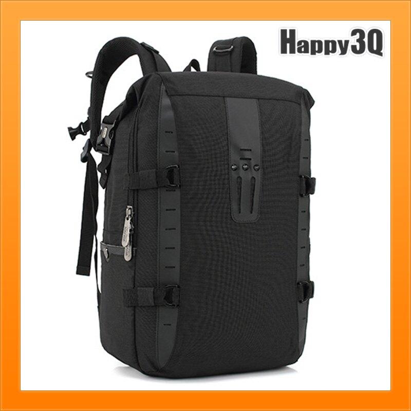 男女雙肩包韓版學生旅行包新款多功能時尚創意背包-黑/灰/藍【AAA5152】