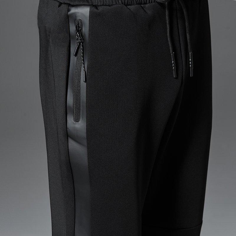 FINDSENSE H1 2018 夏季 新款 男 拼接皮拉鏈  舒適透氣 大碼小腳哈倫褲 運動長褲 休閒褲 潮流褲子