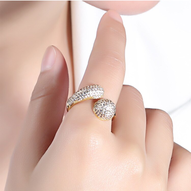 【5折超值價】時尚精美個性鑲鑽百搭女款戒指