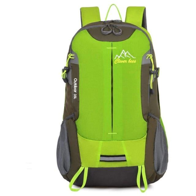 JUNNA ハイキングバックパック メンズ・レディース アウトドアライディングバックパックキャンプ観光戦術バックパック外出アウトドア用品 旅行 大容量 軽量防水 キャンプ アウトドアバッグ (Color : Green)