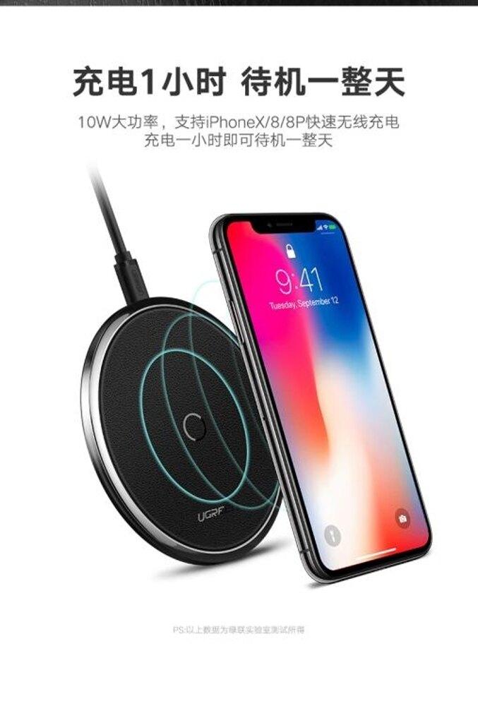 綠聯蘋果x無線充電器iphone8/8plus三星s8手機專用板QI快充底座八 享家生活馆  全館八五折