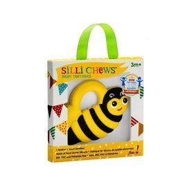 美國 Silli Chews 小蜜蜂咬牙器/固齒器 SC-1【紫貝殼】