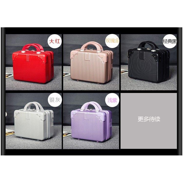 化妝箱迷你手箱大容量化妝箱防水便攜短途小型旅行包收納 zm8452 TW