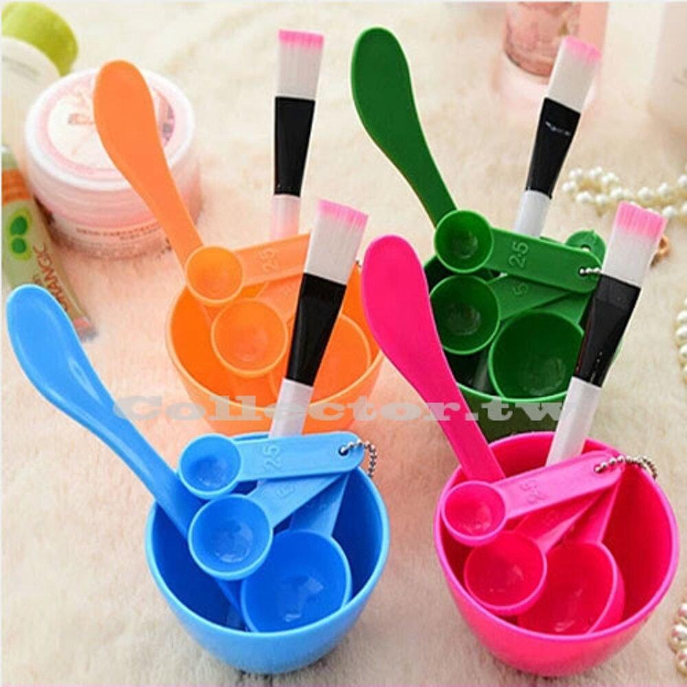 ✤宜家✤DIY面膜美妝工具套裝 4件套 面膜碗 面膜棒面膜刷 計量器