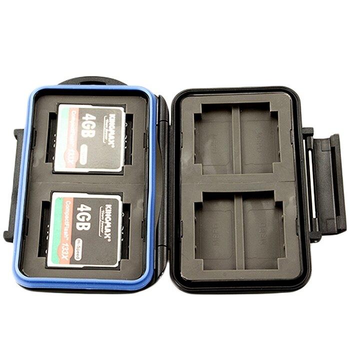 又敗家@JJC防撞防水記憶卡儲卡盒MC-1(可保存CF卡4張、Memory Stick Pro Duo卡8張,共12張記憶卡)CF卡記憶卡儲存盒CF卡盒MSPD卡記憶卡儲存盒MS卡盒保護盒Memory