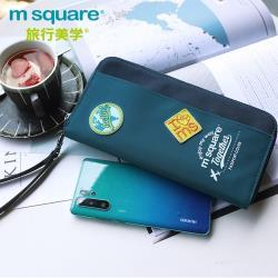 m square 長版手挽護照夾迷彩版