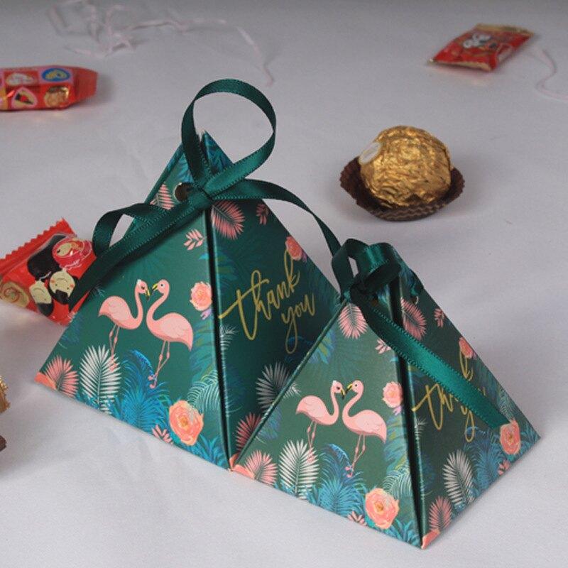 婚禮糖果欧式三角形婚禮糖果包装盒